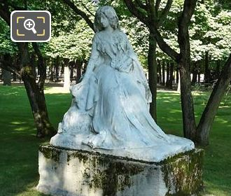 George Sand Statue In Luxembourg Gardens Paris