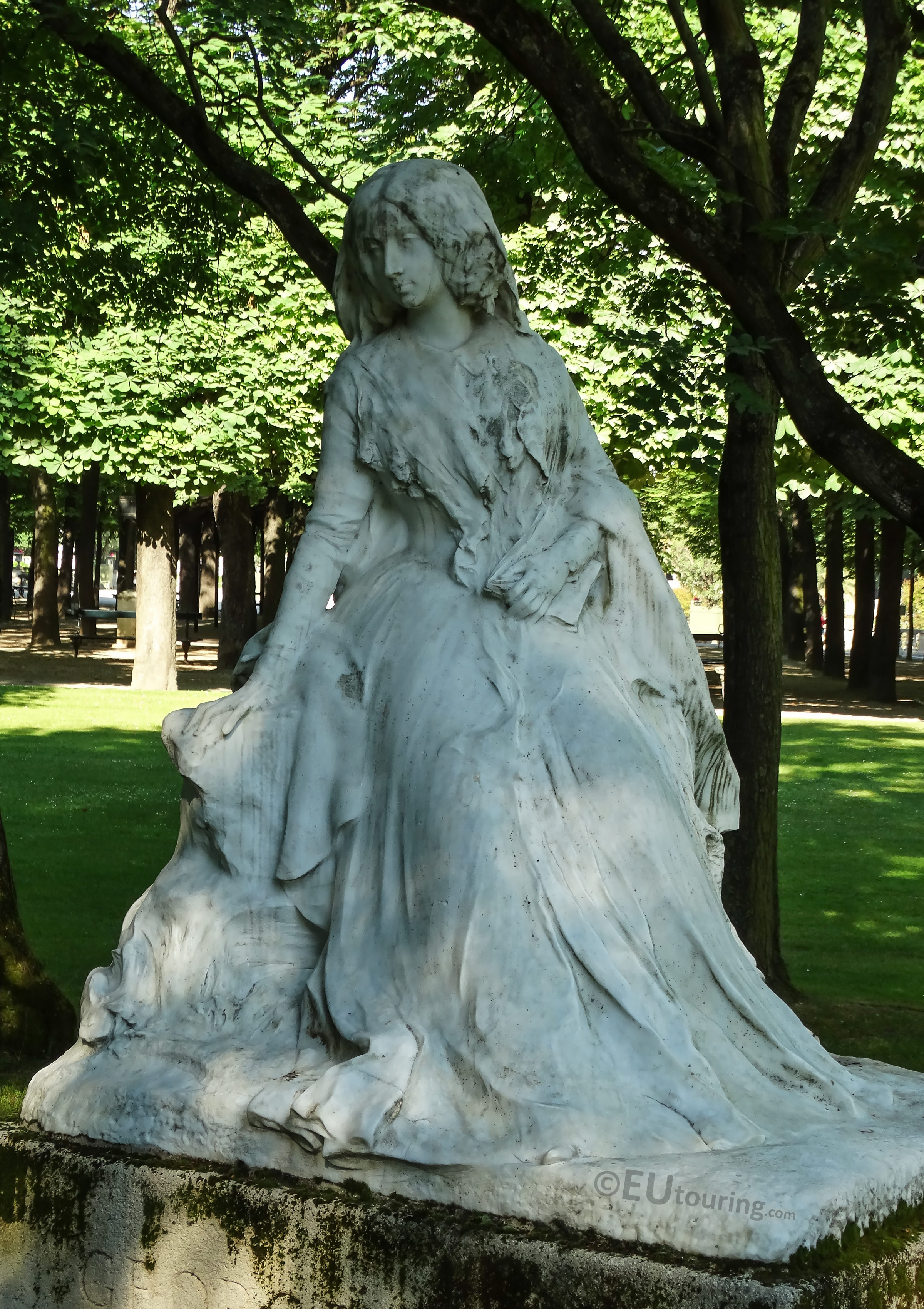 Photos Of George Sand Statue By F Sicard In Luxembourg