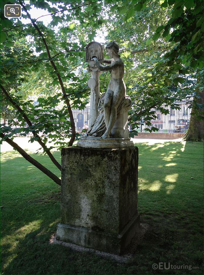 La Bocca Della Verita Statue And Stone Base