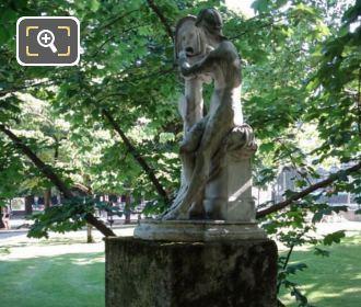 Side View Of Bocca Della Verita Marble Statue