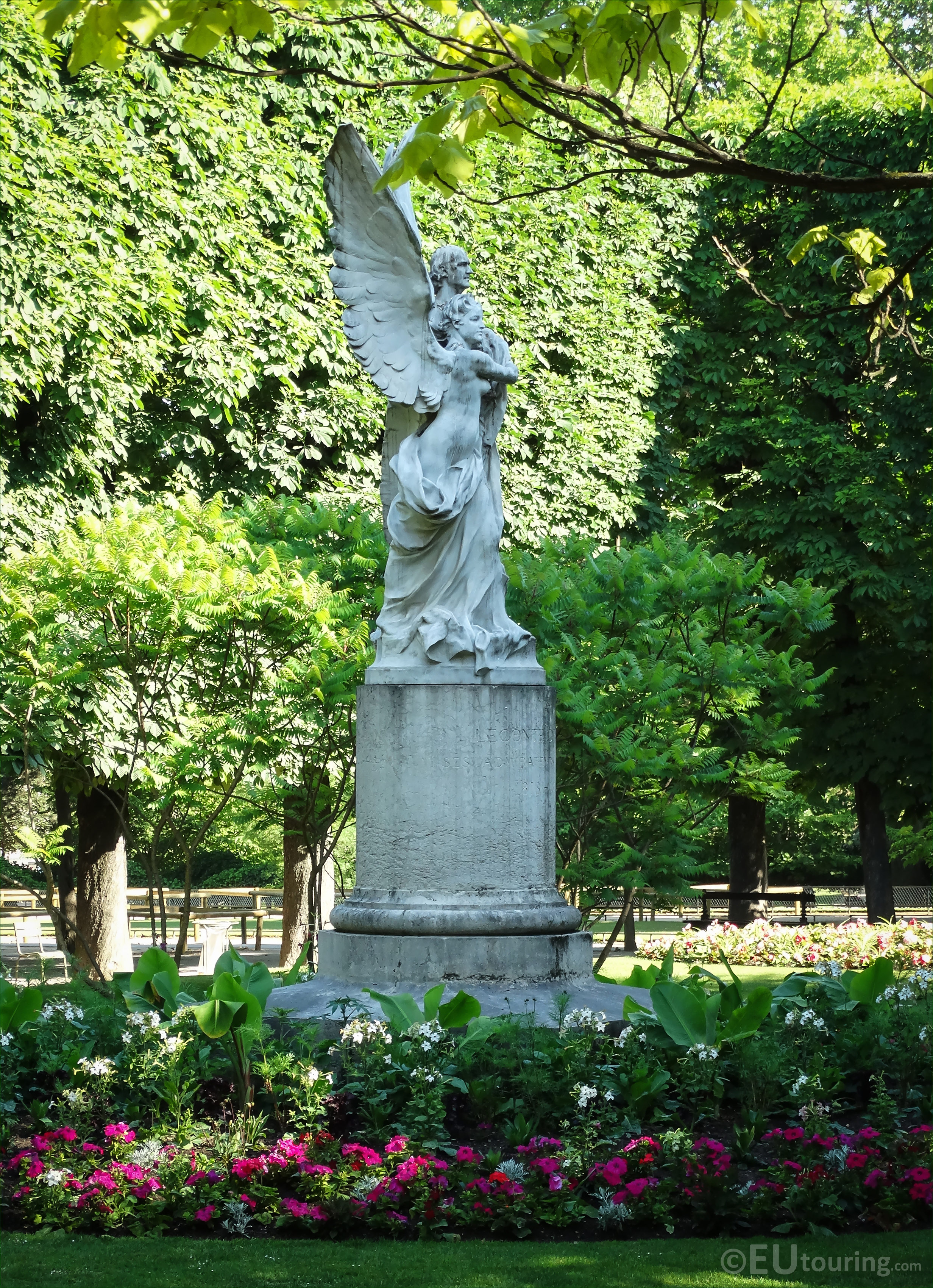 s of Leconte de Lisle statue by Puech in Luxembourg Gdns