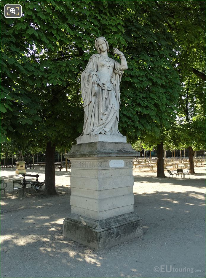 Jardin Luxembourg Marble Statue Clemence Isaure