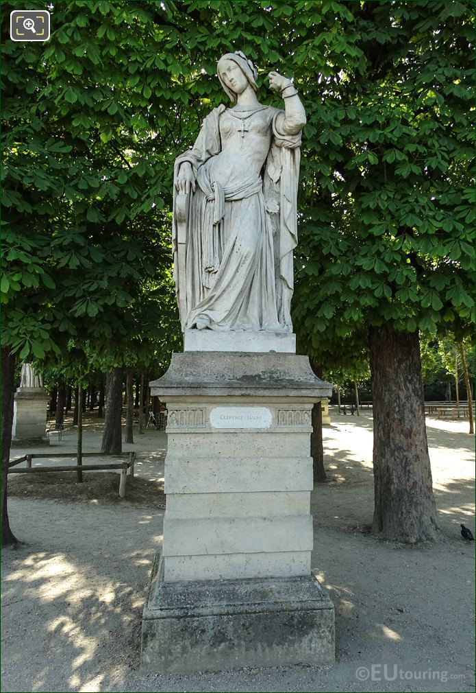 1848 Clemence Isaure Statue By Auguste Preault