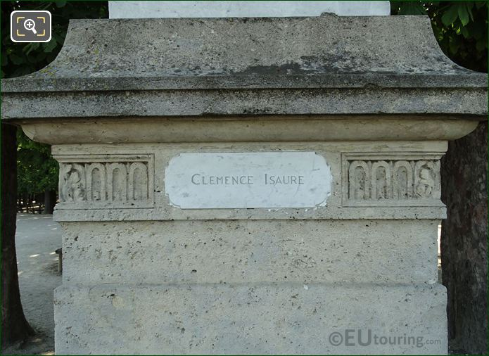 Plaque On The Base Of Clemence Isaure Statue