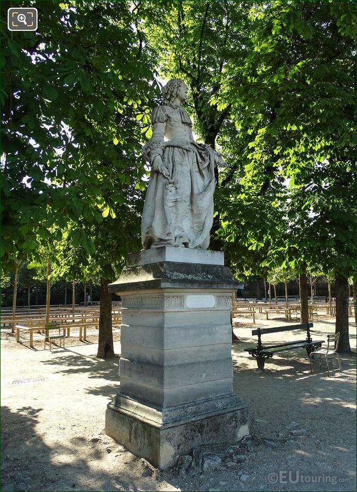 Anne M L d Orleans Marble Statue