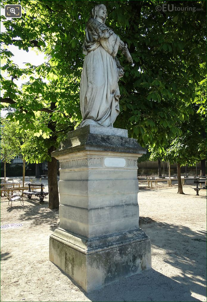 Louise De Savoie Statue And Stone Base