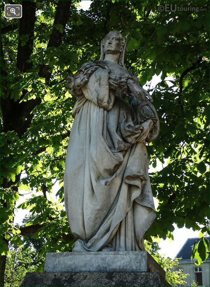 Louise De Savoie Statue Jardin Du Luxembourg Paris