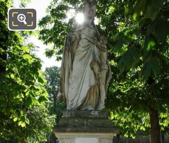 Luxembourg Gardens 1877 Statue Marguerite Of Anjou