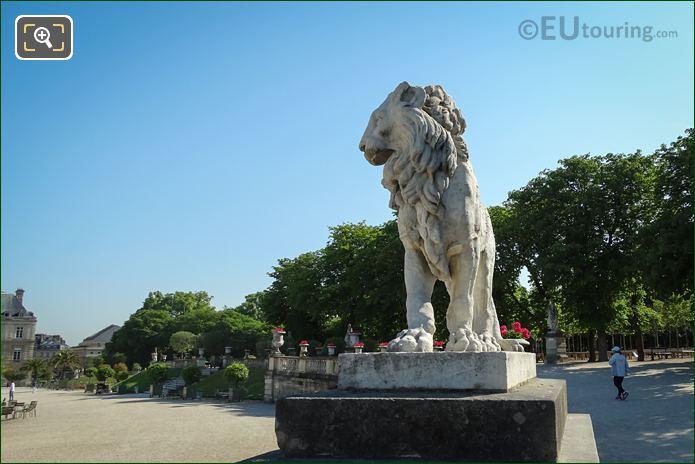 Lion Statue In Jardin Du Luxembourg