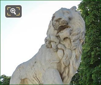 Marble Lion Statue By Jean-Baptiste Henraux
