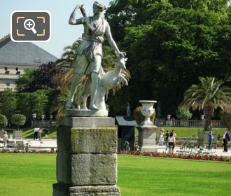 Diane A La Biche Statue Luxembourg Gardens