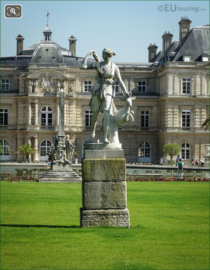 Goddess Of The Hunt Statue Luxembourg Gardens