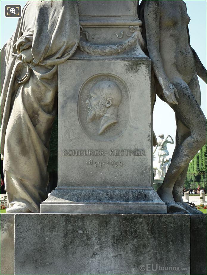 Stone Medallion Auguste Scheurer Kestner