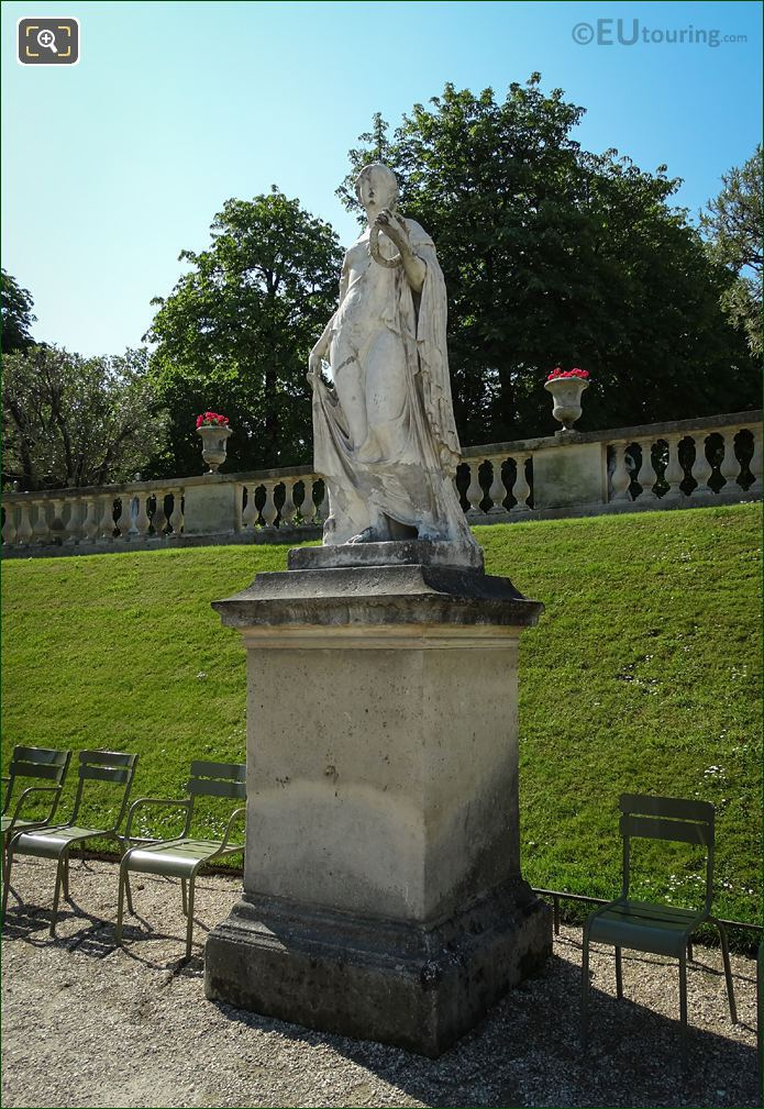 Flore Mable Statue In Luxembourg Gardens