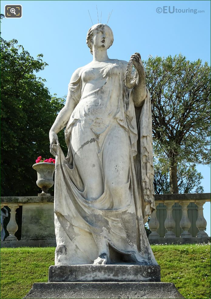 Close Up Of Flore Statue In Luxembourg Gdns