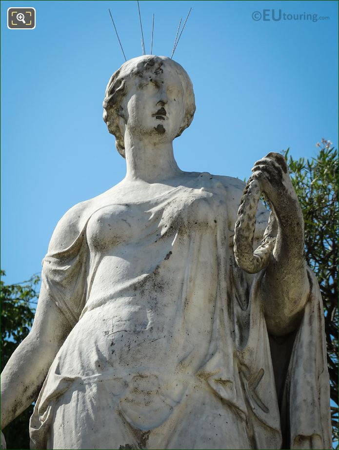 Luxembourg Gardens Eastern Side Flore Statue