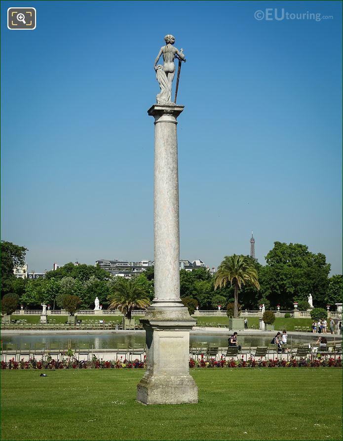 David Vainqueur De Goliath Statue Back View