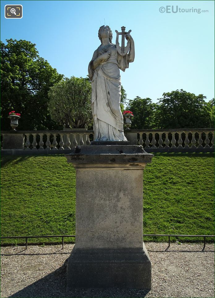 Front View Of The Marble Statue Of Calliope