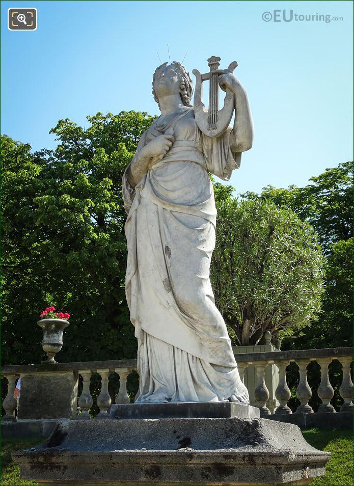 Marble Statue Of Calliope By Fernando Pelliccia