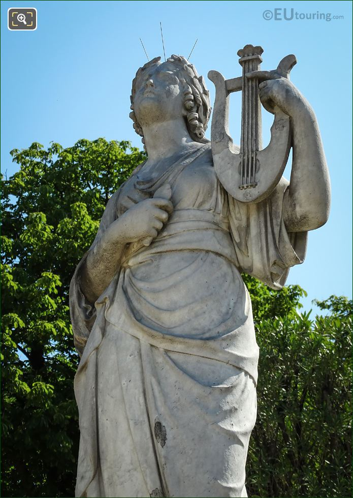 Close Up View Of Calliope Statue