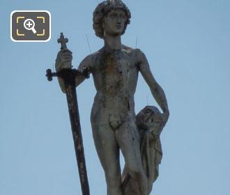 David Vainqueur De Goliath Statue Front View