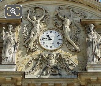 Palais Du Luxembourg South Facade Clock And Statues