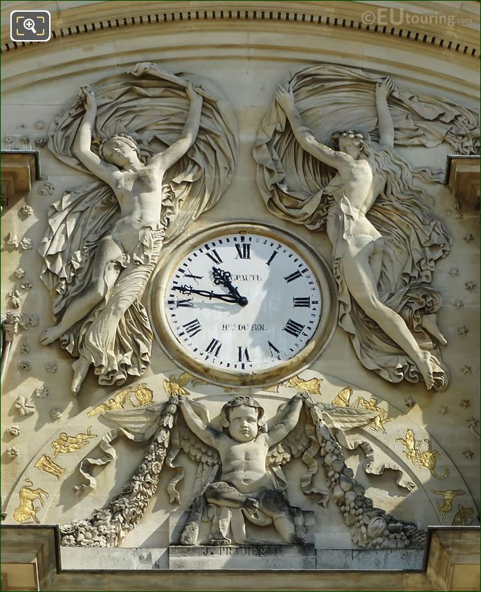 Palais Du Luxembourg Clock And Sculptures