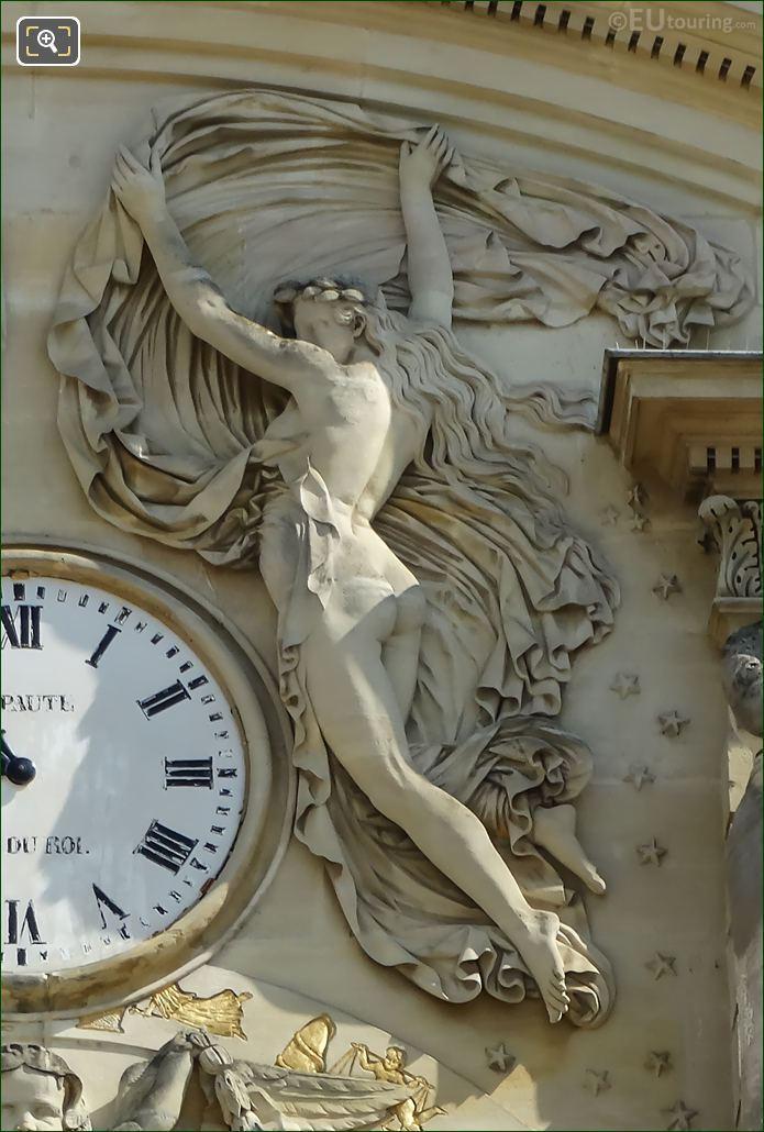 La Nuit Sculpture Palais Du Luxembourg Clock