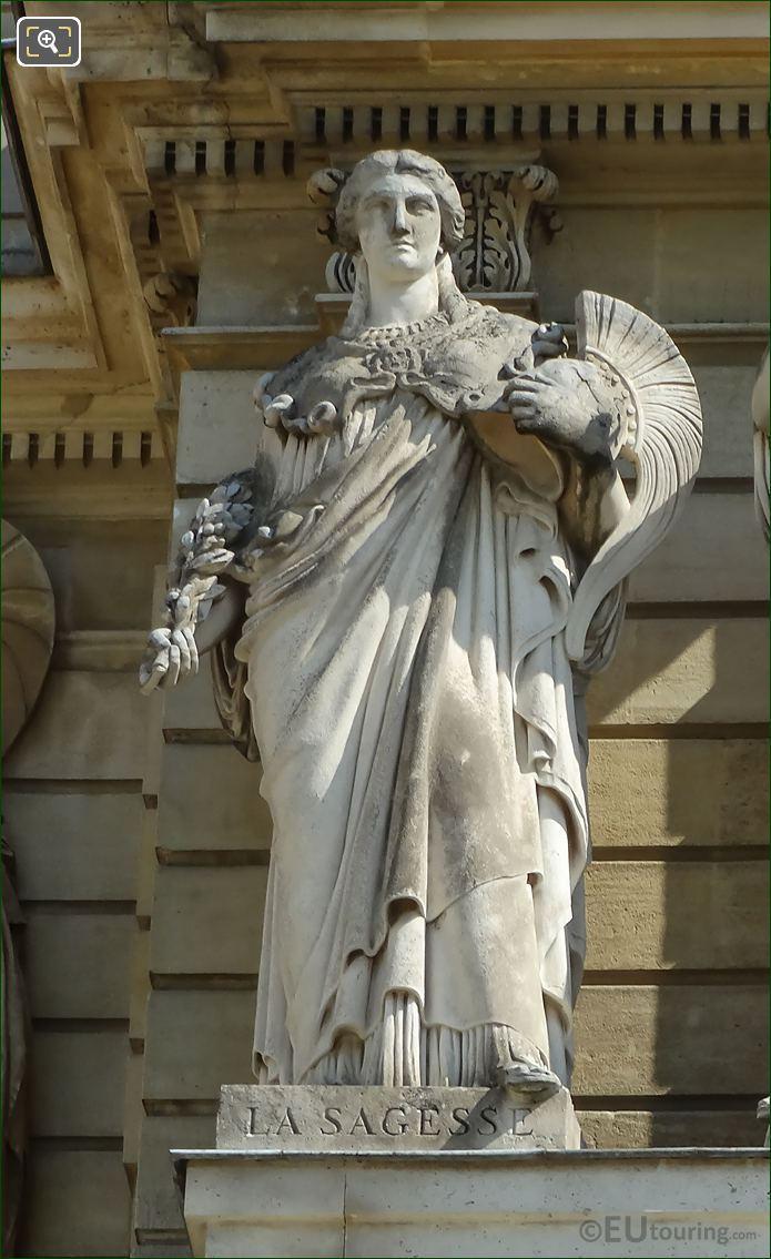 La Sagesse Statue On Palais Du Luxembourg