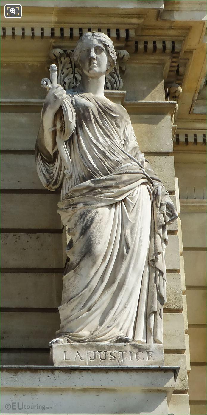La Justice Statue Palais Du Luxembourg
