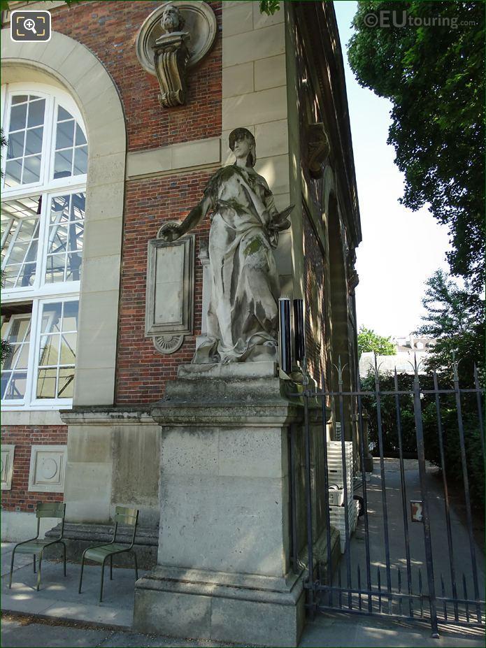 La Peinture Statue On Orangerie Luxembourg Gardens