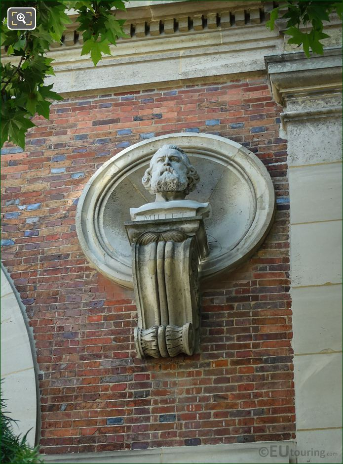 Jean-Francois Millet Statue On Orangerie