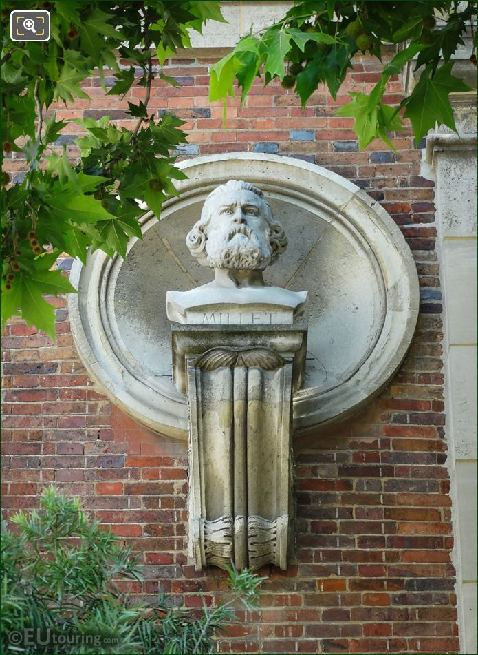 Jean-Francois Millet Bust By Emile Louis Bogino