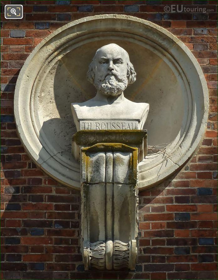 Theodore Rousseau Bust By Henri Louis Levasseur