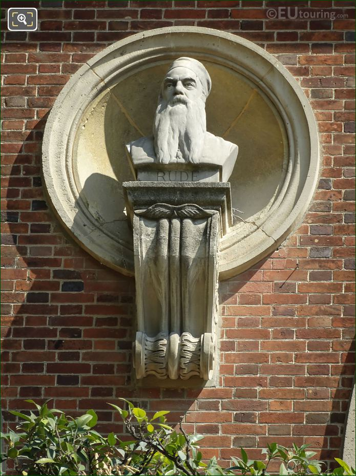 Francois Rude Bust Statue On Orangerie