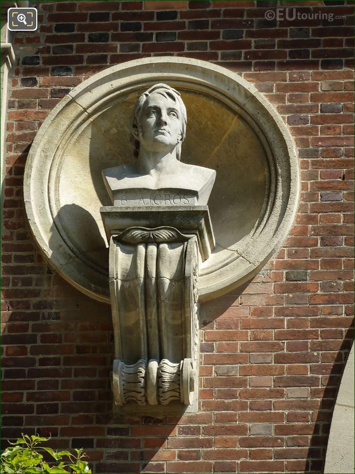 Baron Antoine Gros Statue Jardin Du Luxembourg
