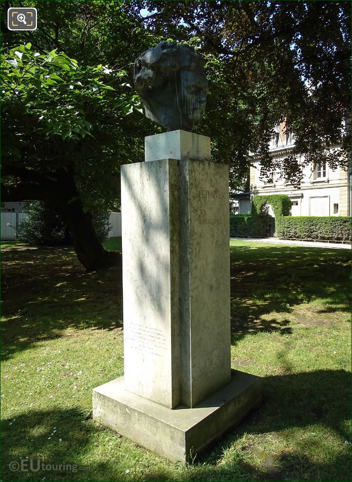 Bust Of Ludvig Van Beethoven On Pedestal