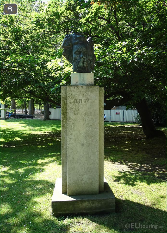 Luxembourg Gardens Monument Ludvig Van Beethoven