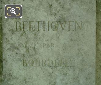 Artist Name Inscription On Beethoven Monument