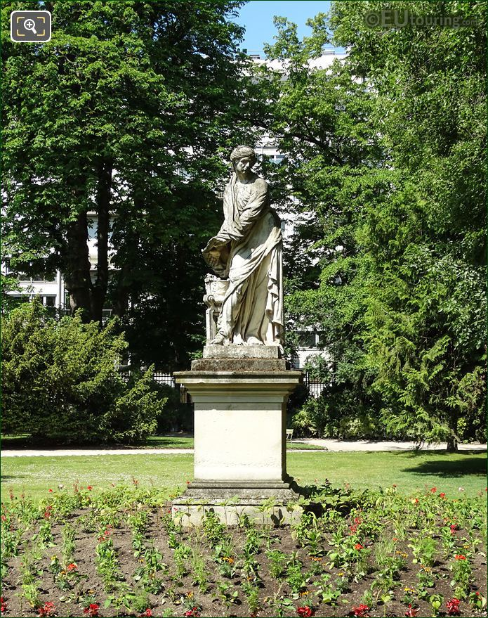 Front Of l Hiver Statue Jardin Du Luxembourg