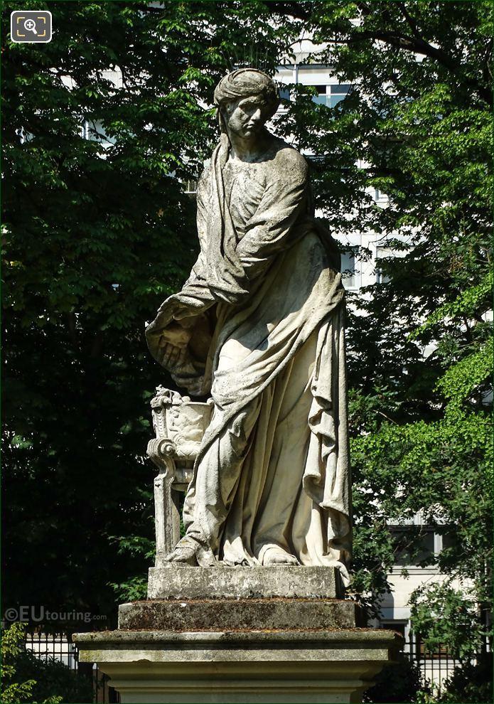 l Hiver Statue By Artist Michel Anguier