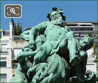 Triomphe De Silene Statue In Luxembourg Gardens