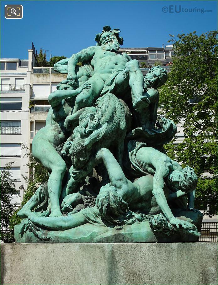 Triomphe De Silene Statue By Aime Jules Dalou