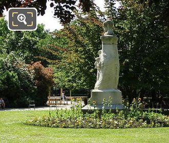Paul Verlaine Monument In Luxembourg Gardens