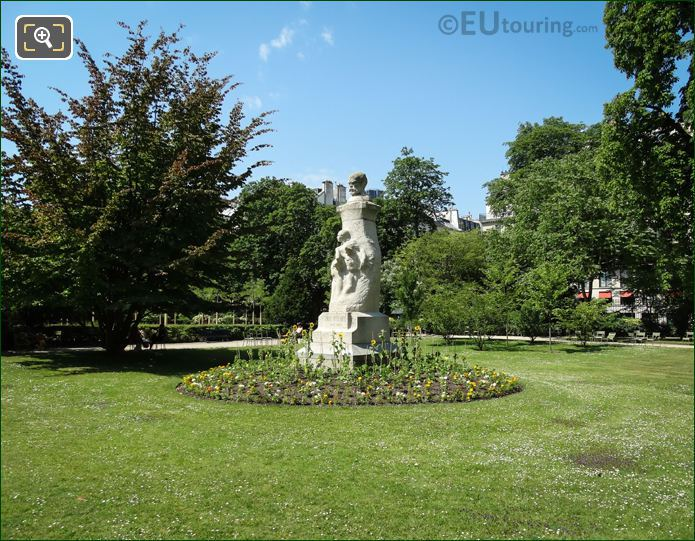 Garden Area Around The Paul Verlaine Monument