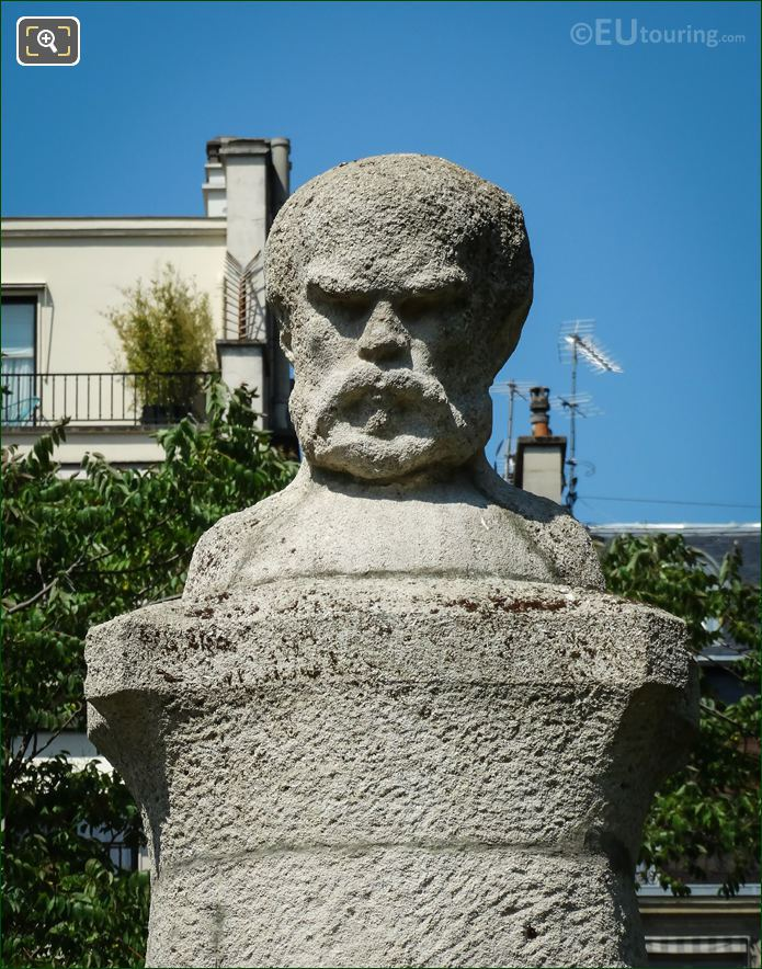 Marble Bust Of Paul Verlaine In Luxembourg Grdns