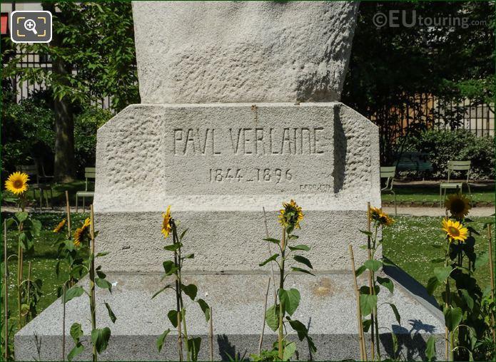 Inscription On The Paul Verlaine Monument