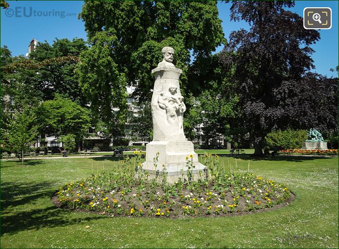 Stone And Marble Monument Of Paul Verlaine