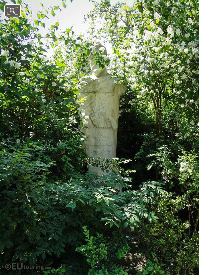 Gabriel Vicaire Statue Jardin Du Luxembourg