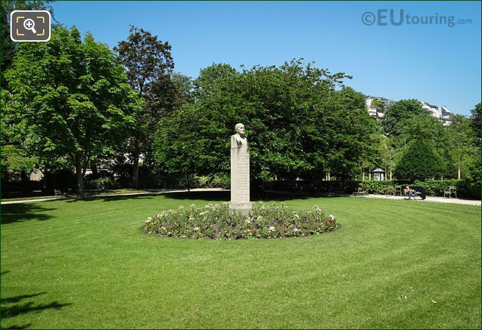 Luxembourg Gardens Edouard Branly Monument